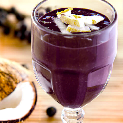 Vitamina de Açaí com Mirtilo